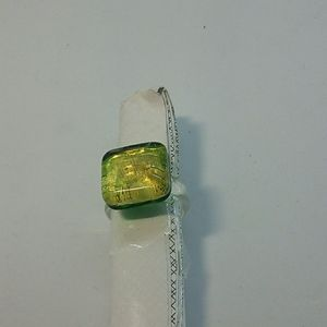 Jewelry - Glass Ring size 7
